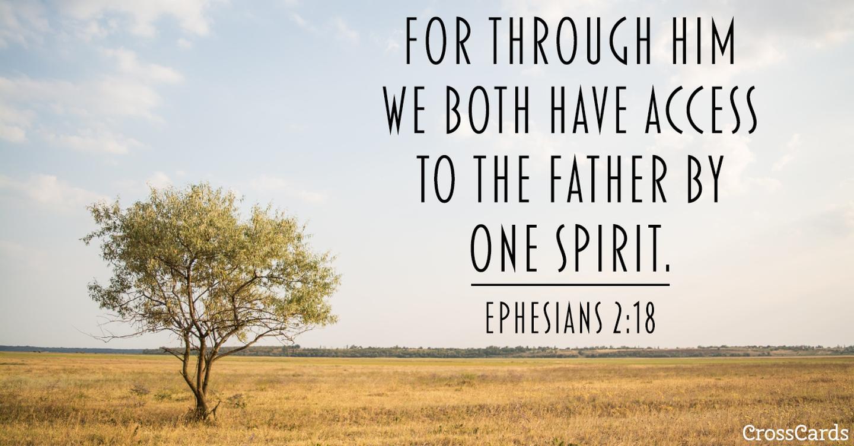 Ephesians 2:18 ecard, online card