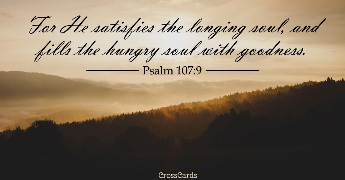 Psalm 107:9 ecard, online card
