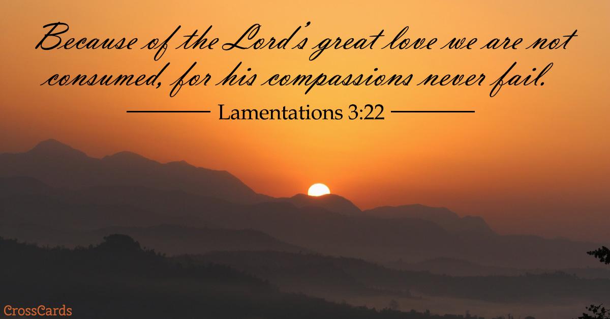 Lamentations 3:22 ecard, online card