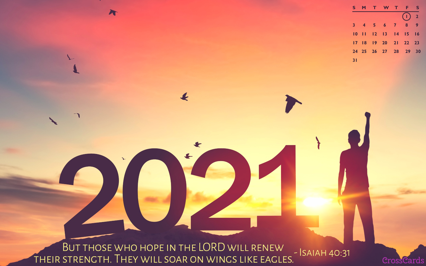 January 2021 - Hope in the Lord mobile phone wallpaper