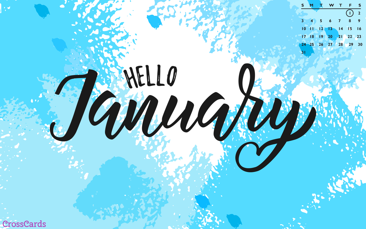 January 2021 - Hello January mobile phone wallpaper