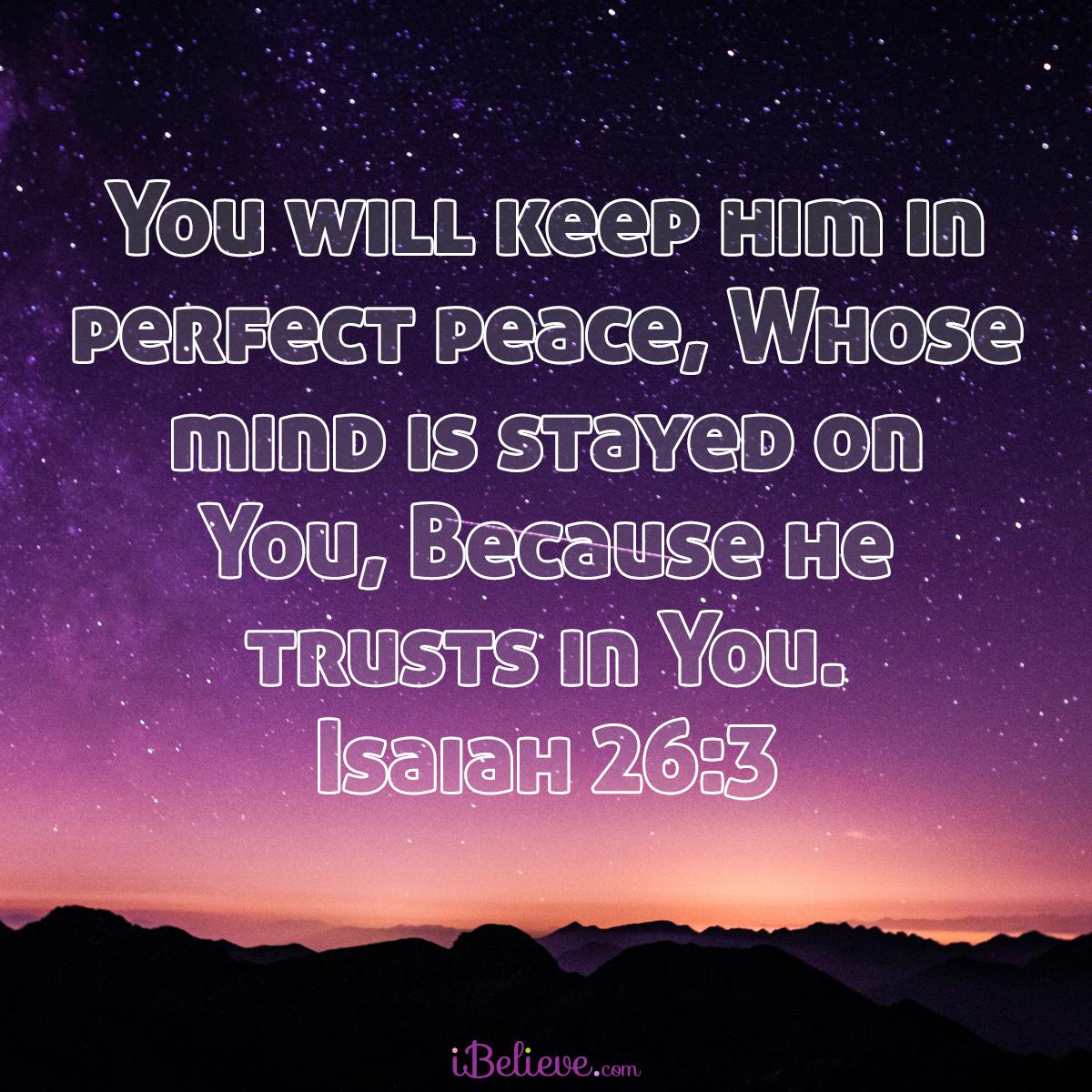 Isaiah 26:3, inspirational image