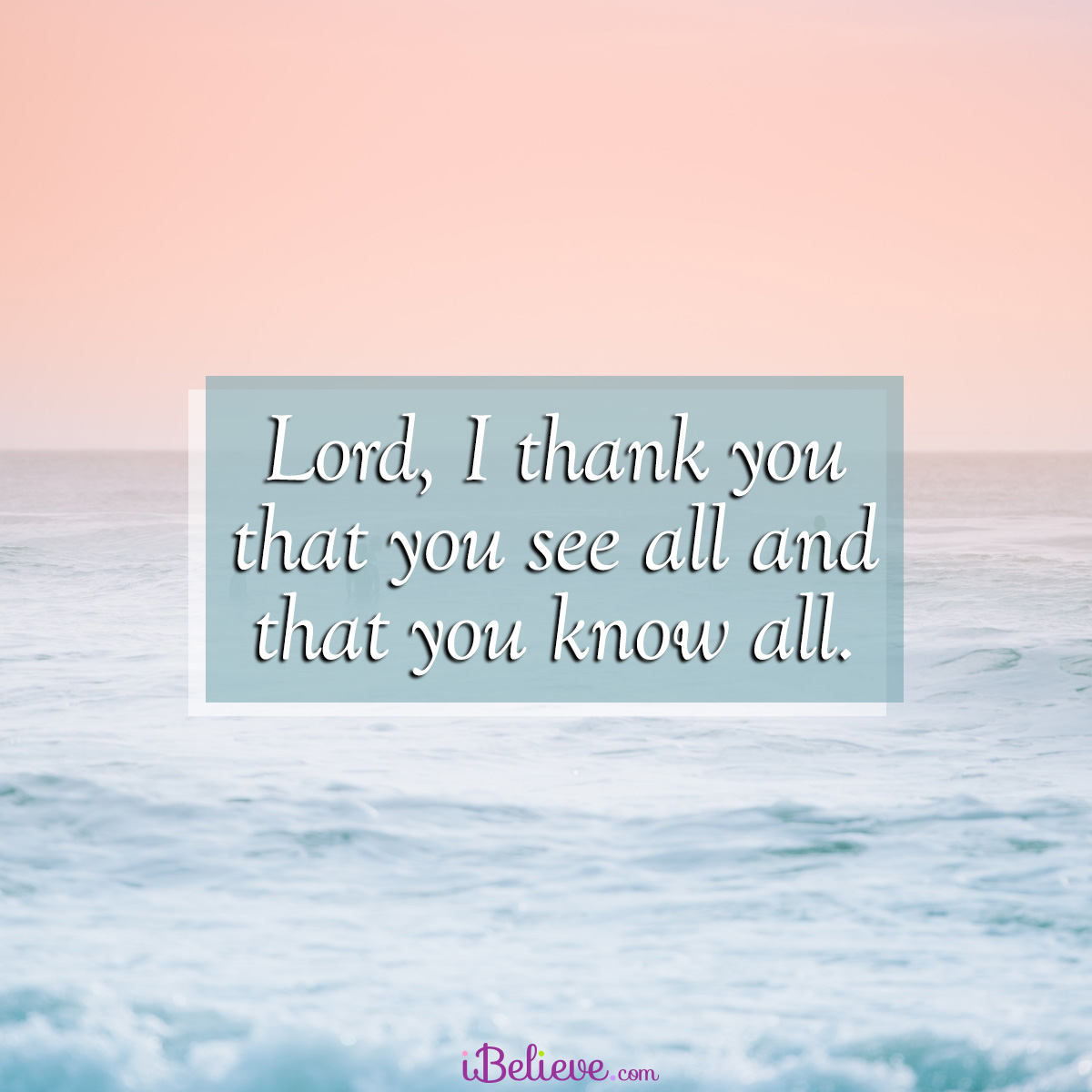 The Lord sees all, inspirational image