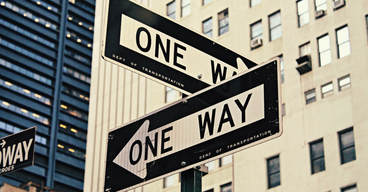 One way street signs