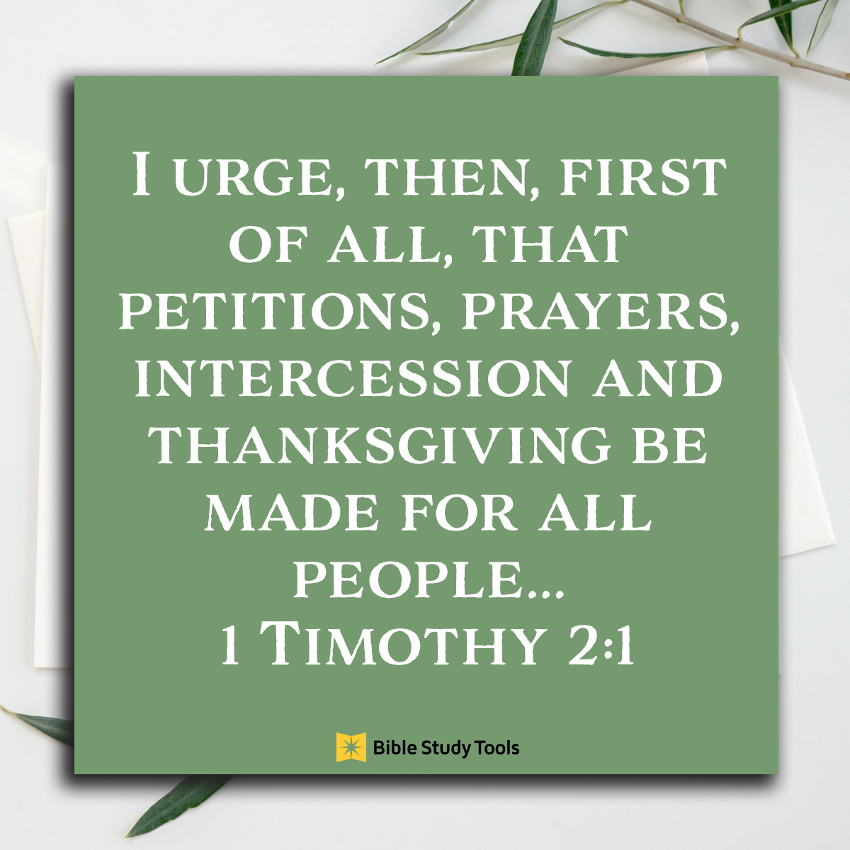 1 Timothy 2:1, inspirational image