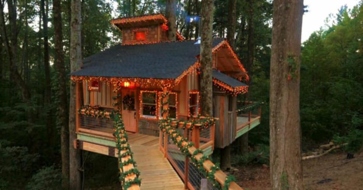 Treehouse Masters, A illuminated treehouse