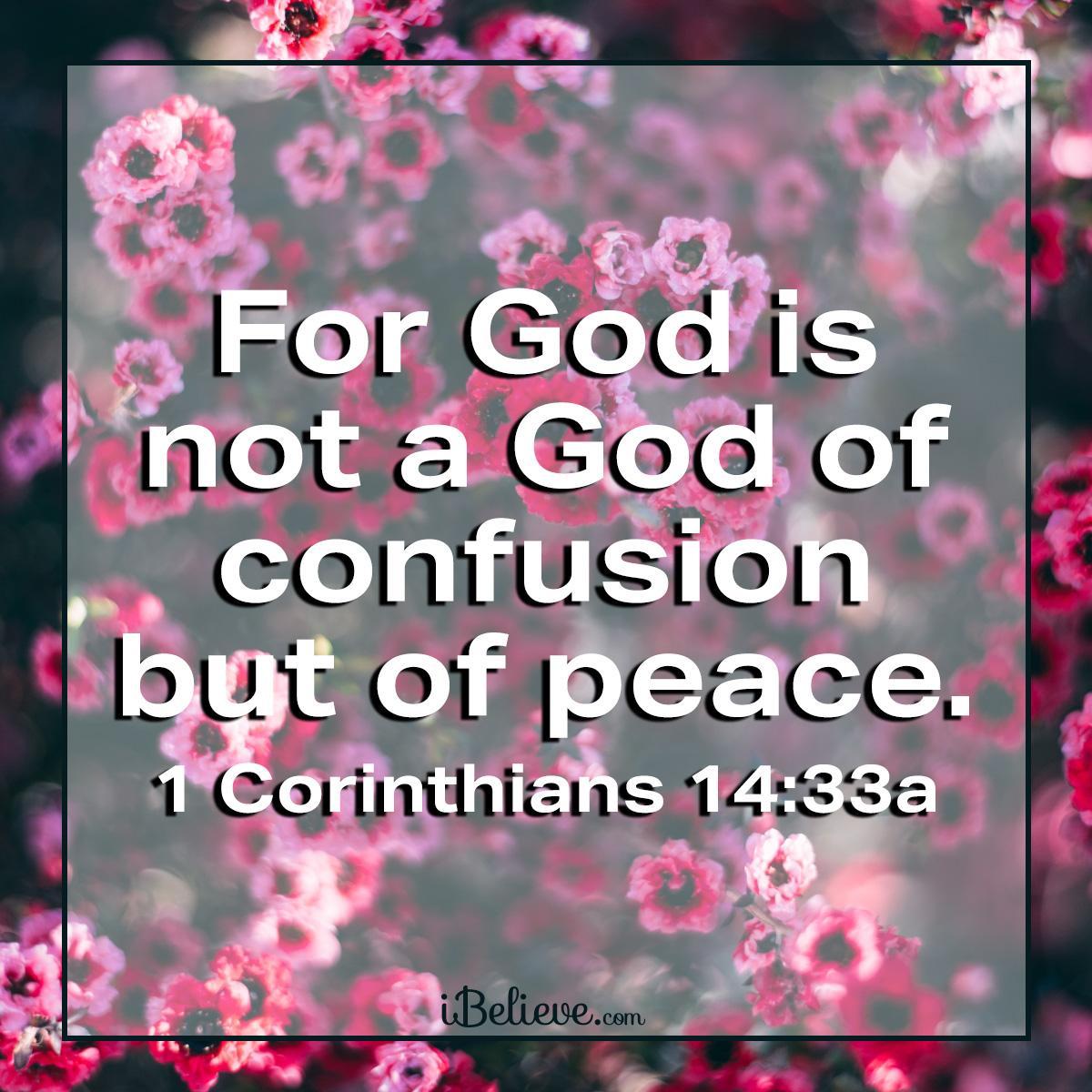 1 Corinthians 14:33 sq