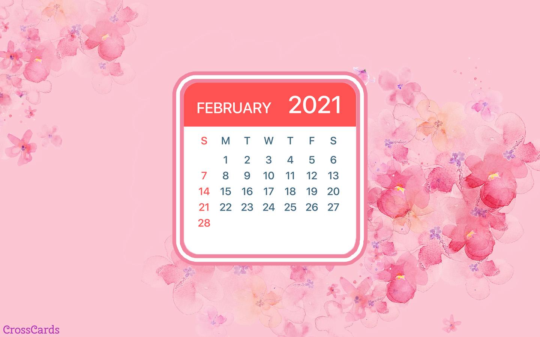 February 2021 - Flowers mobile phone wallpaper