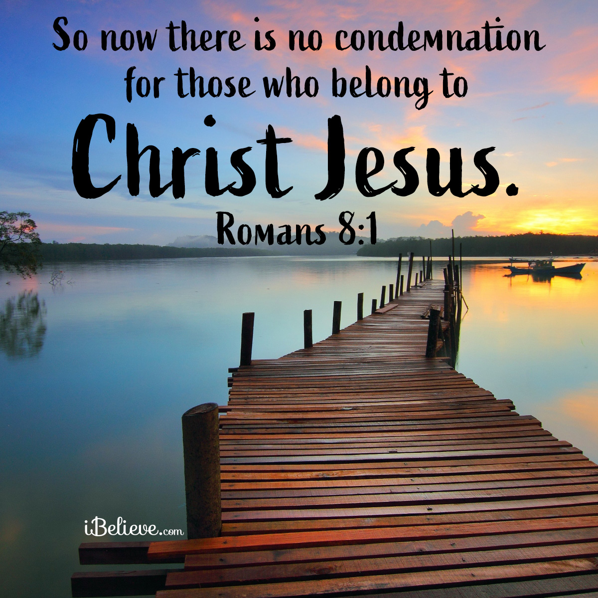 Inspirational image of Romans 8:1