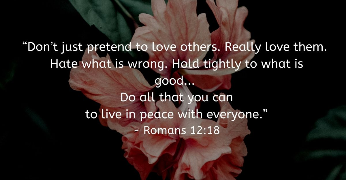 Romans 12:18, inspirational image