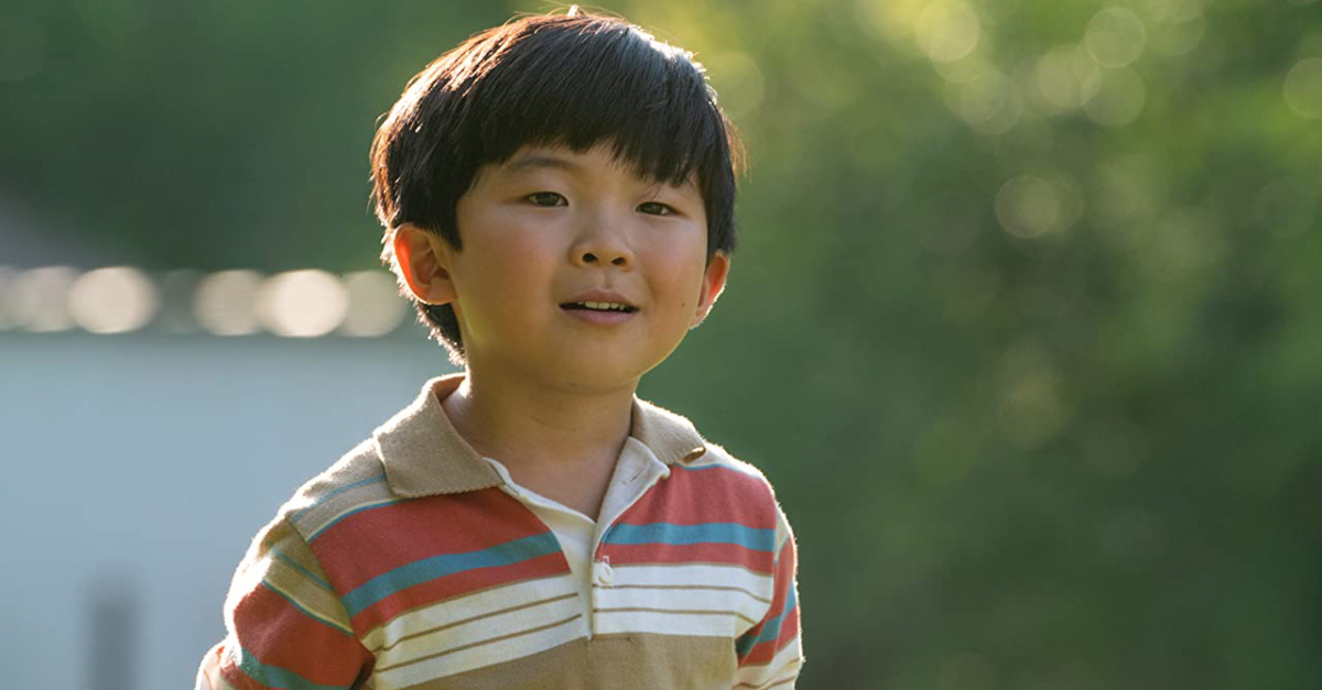 The young son in Minari, still from Minari