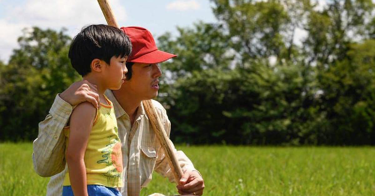 Father and son in Minari