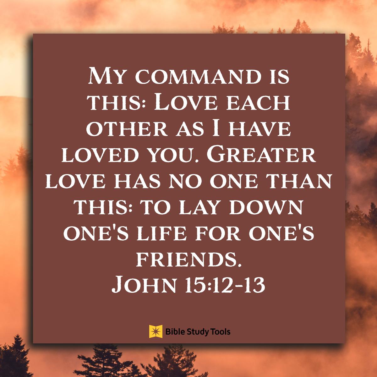 John 15:12-13, square image