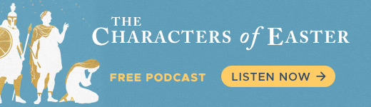 Characters of Easter podcast banner ad