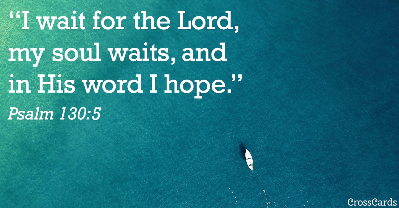 Psalm 130:5 ecard, online card