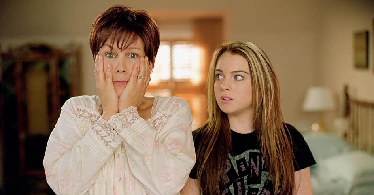 Lindsey Lohan and Jamie Lee Curtis in Freaky Friday