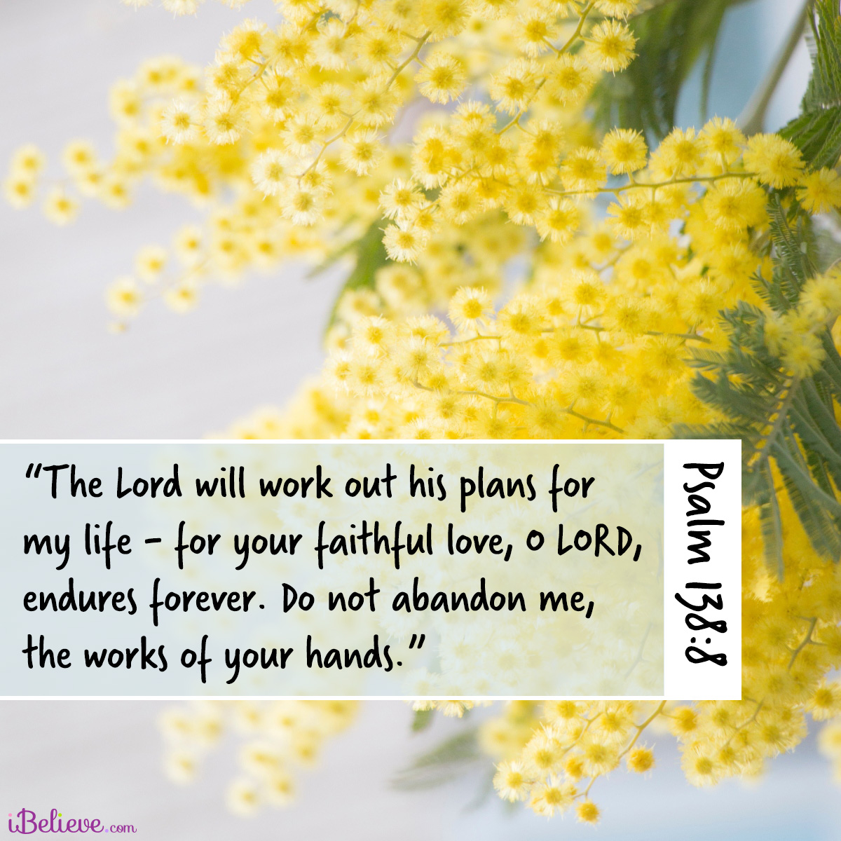 Psalm 138:8, inspirational image