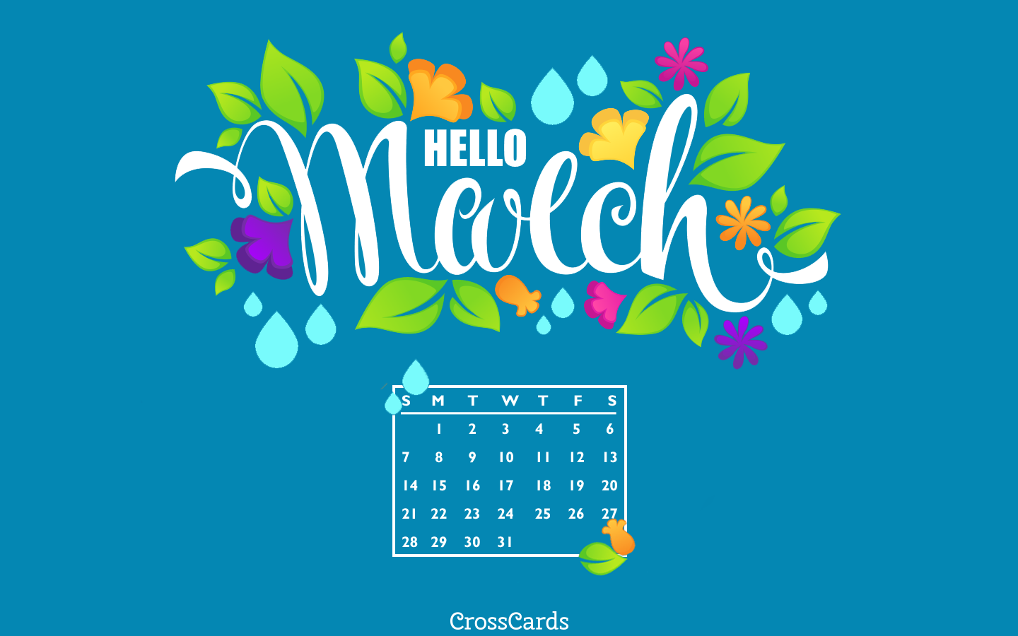 March 2021 - Hello March! mobile phone wallpaper