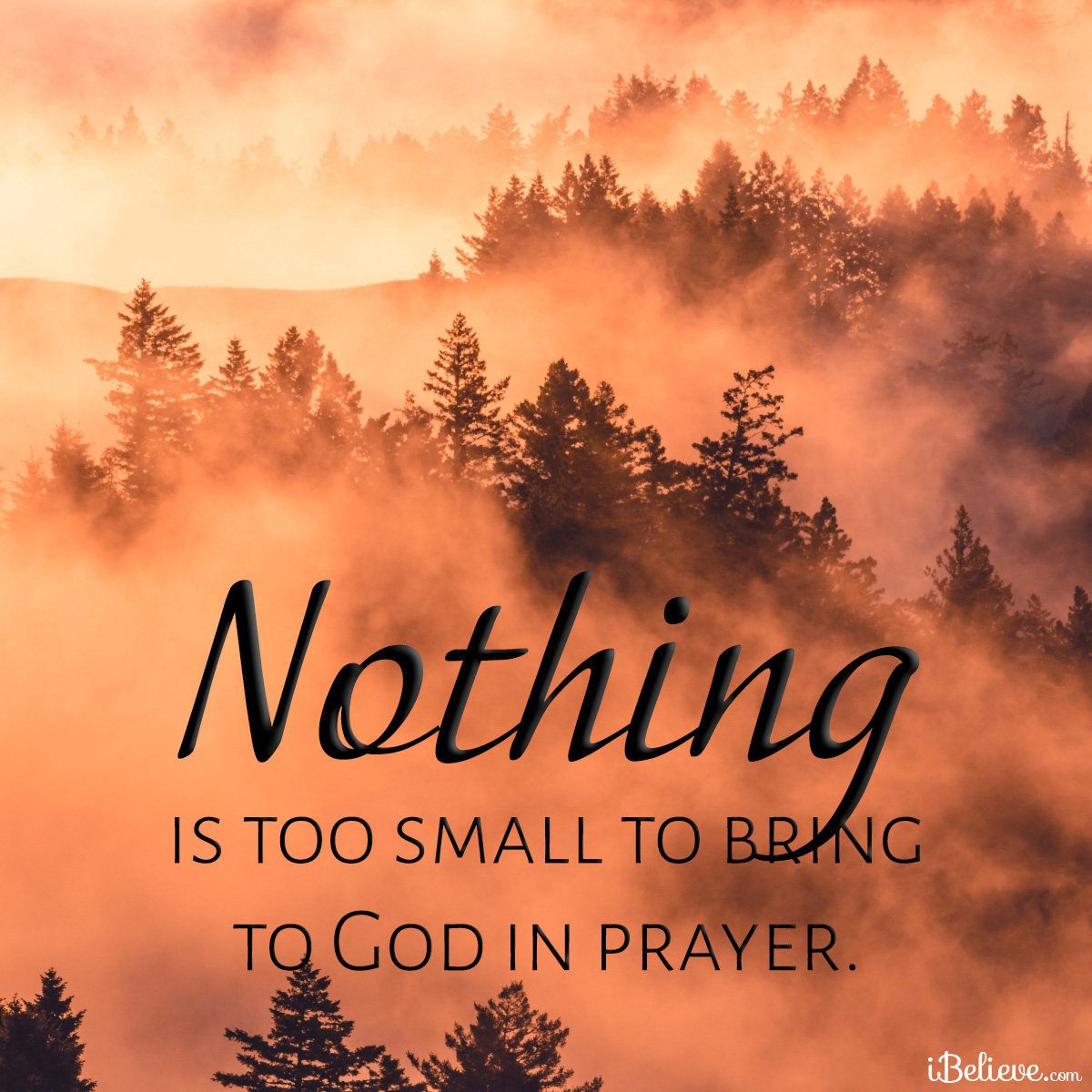 nothing is too small for God