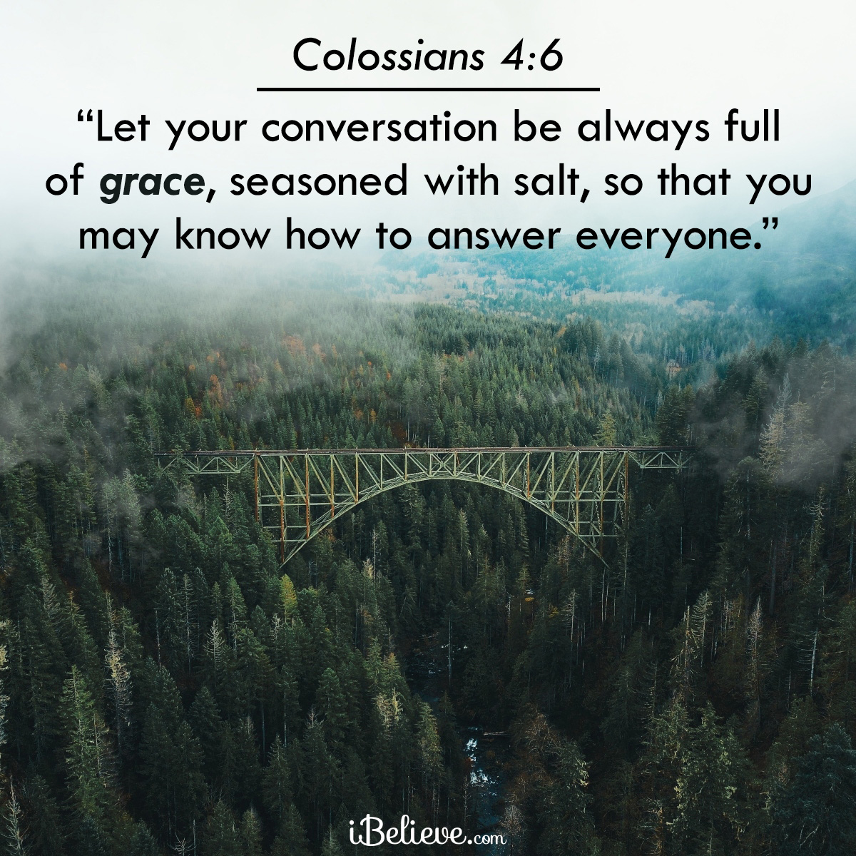 Colossians 4:6, inspirational image