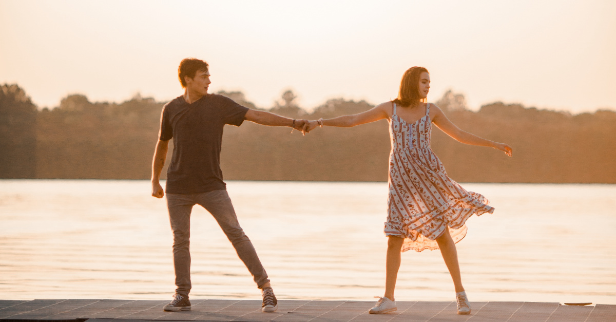 Bailey Madison and Kevin Quinn in A Week Away