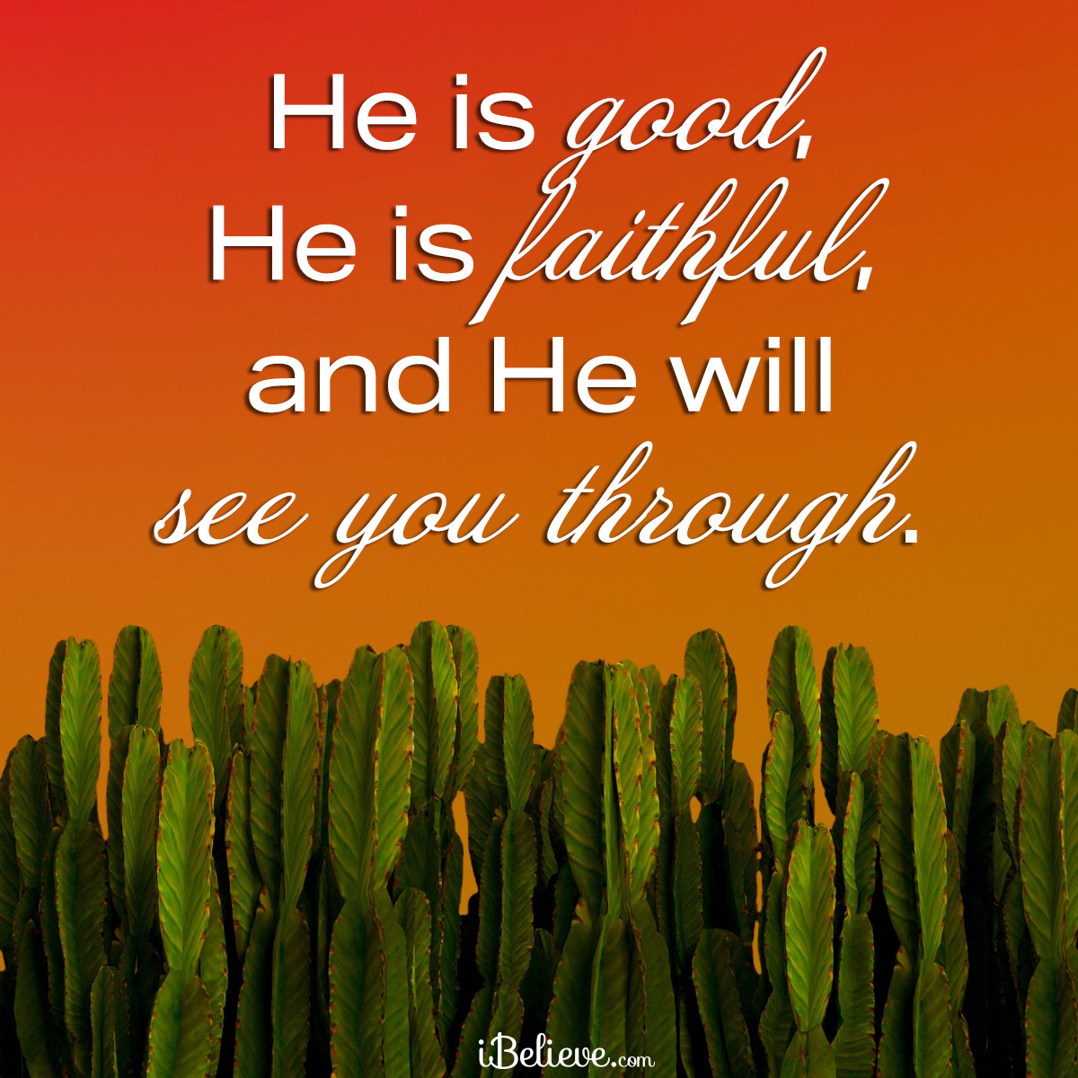 God will see you through, inspirational image