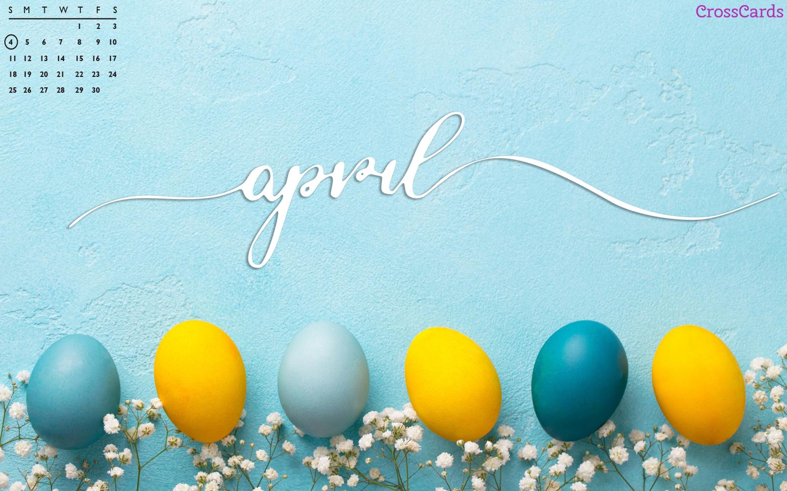April 2021 - Easter Eggs mobile phone wallpaper