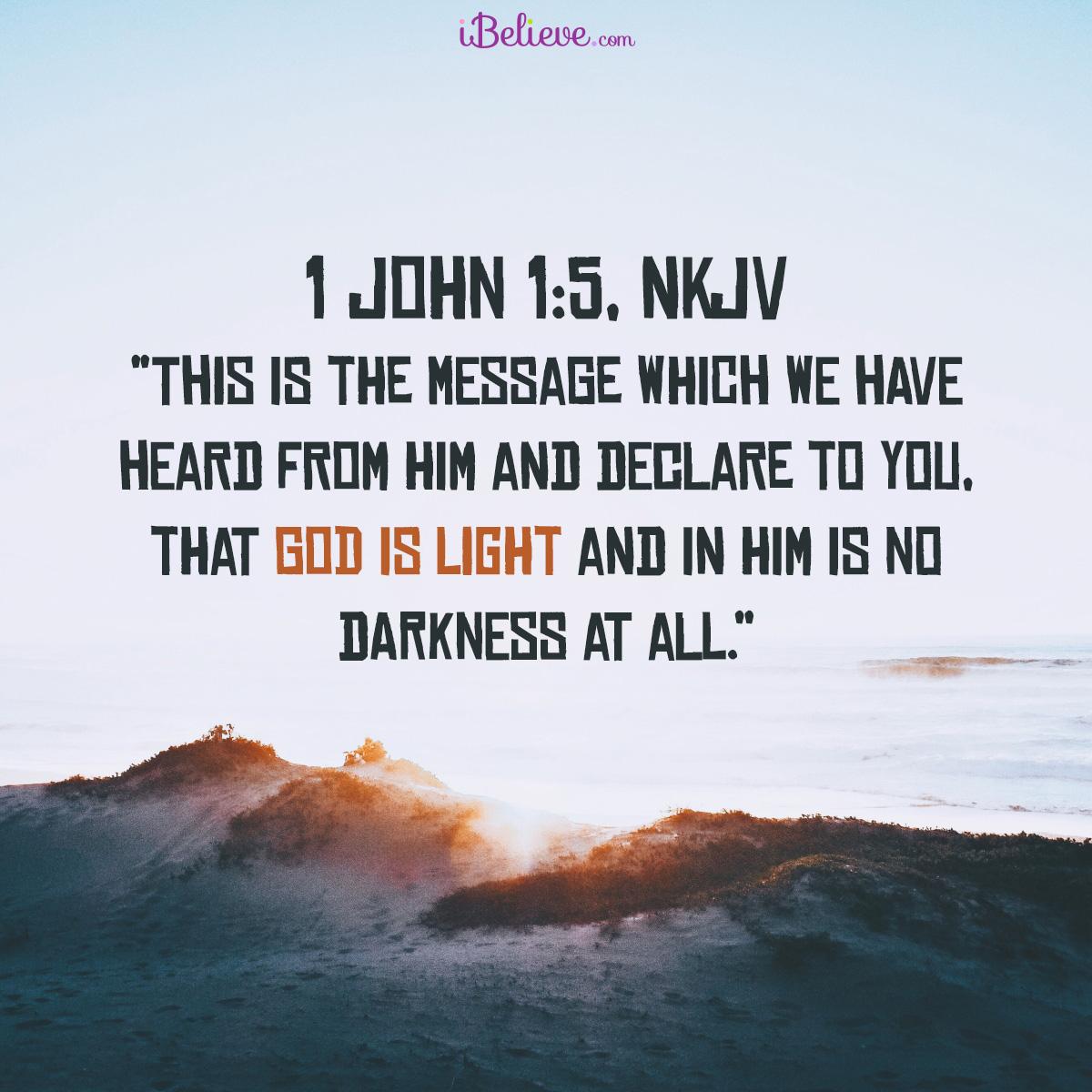 Inspirational Image of 1 John 1:5