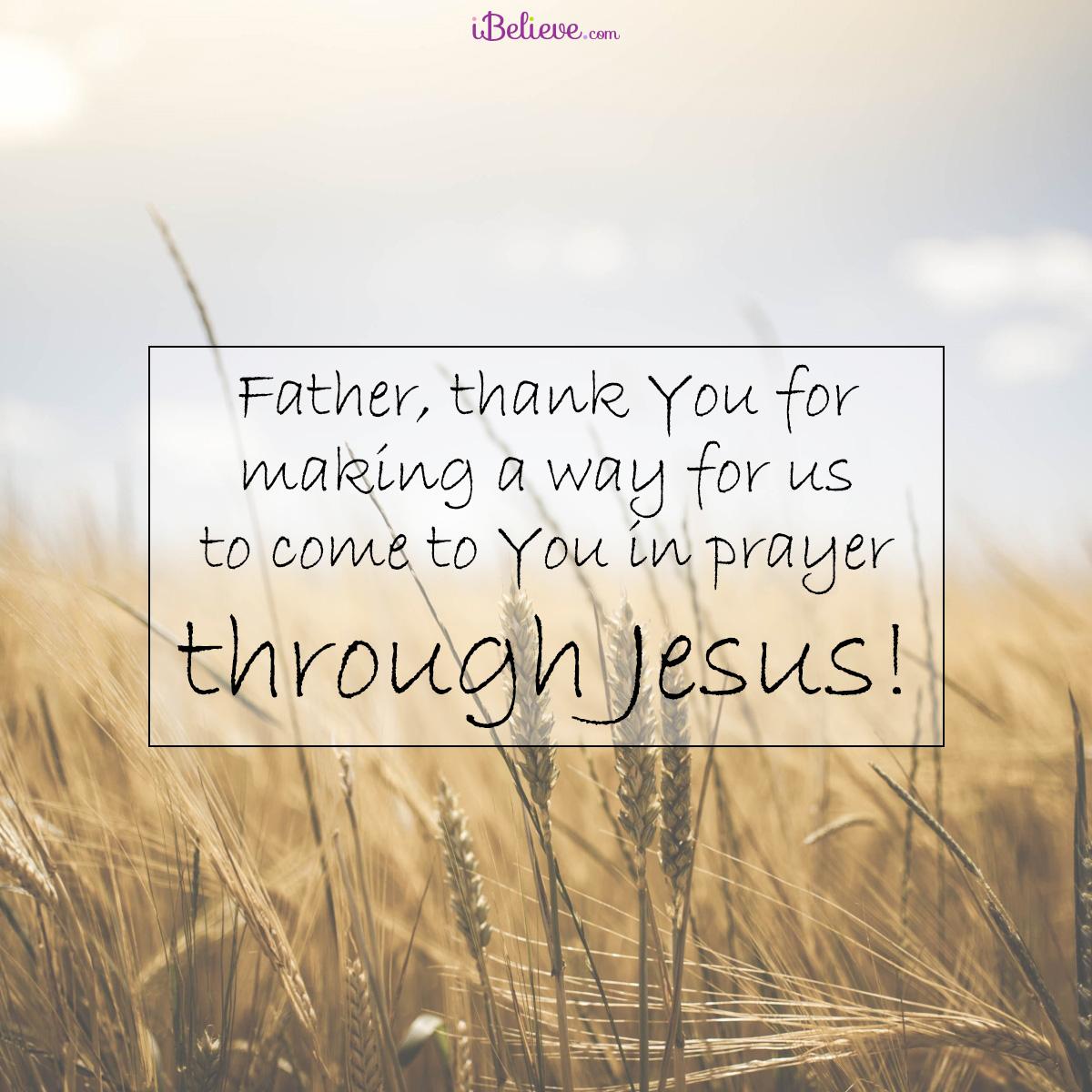 through Jesus, inspirational image