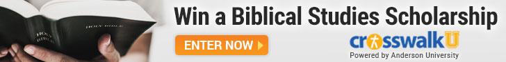 win a scholarship in biblical studies from Crosswalk University