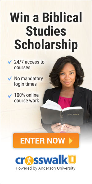 win a scholarship in biblical studies from Crosswalk University