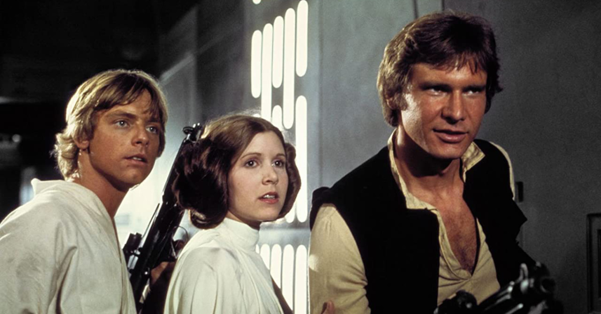 Luke, Leah and Han Solo in StarWars