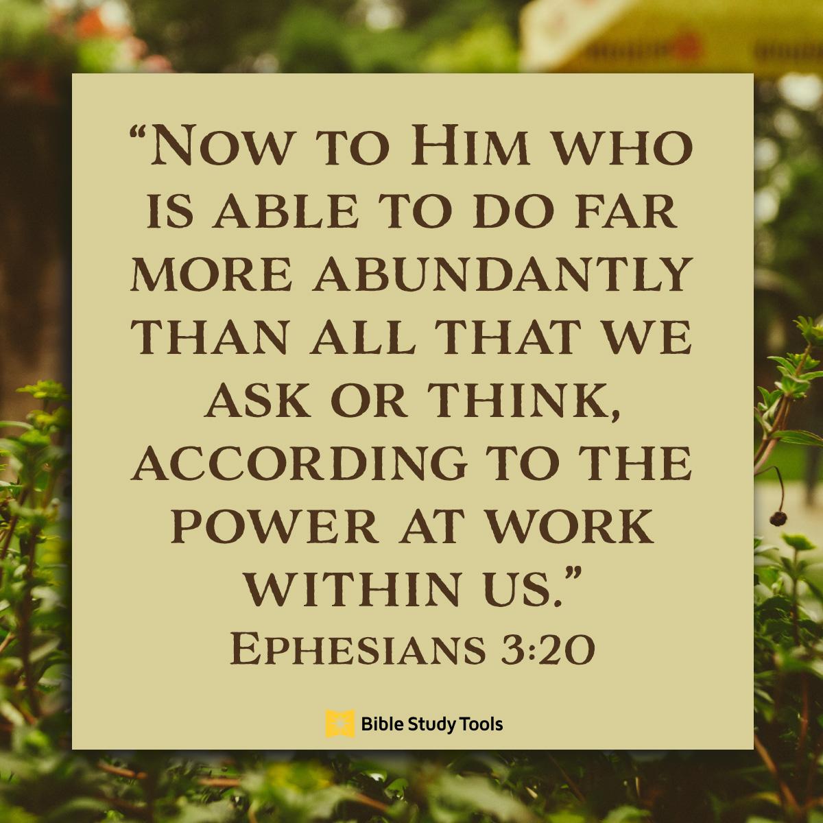 Ephesians 3:20, inspirational image