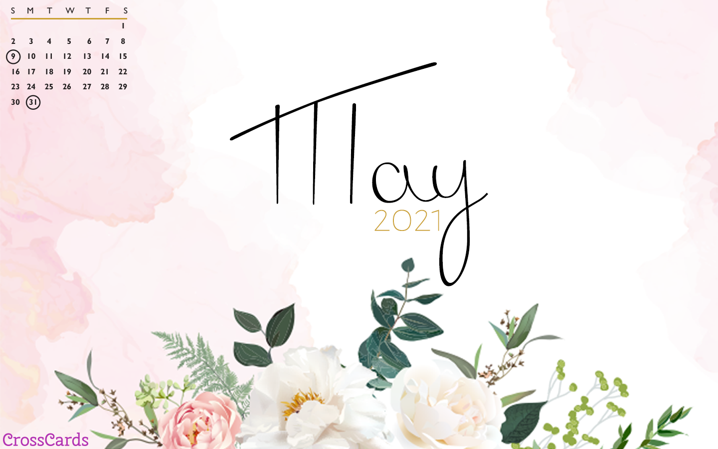 May 2021 - Pink Flowers mobile phone wallpaper