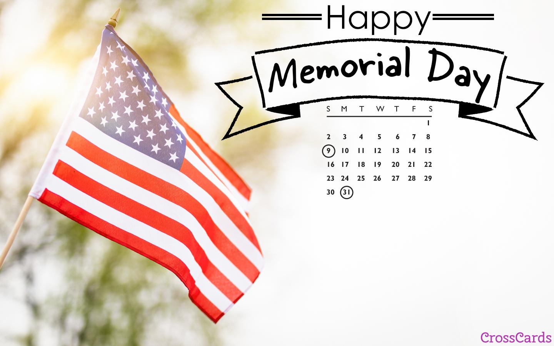 May 2021 - Memorial Day mobile phone wallpaper