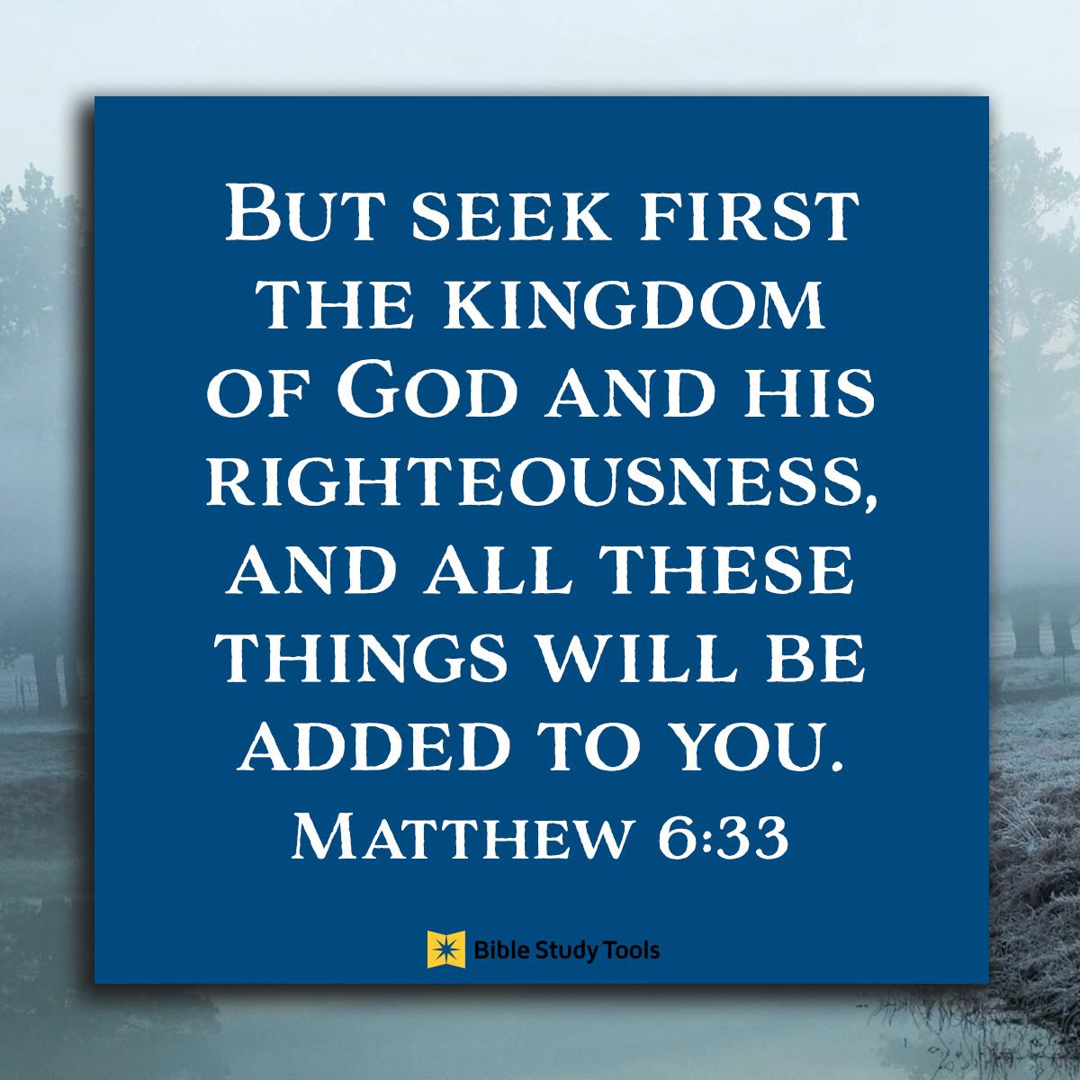 Matthew 6:33, inspirational image