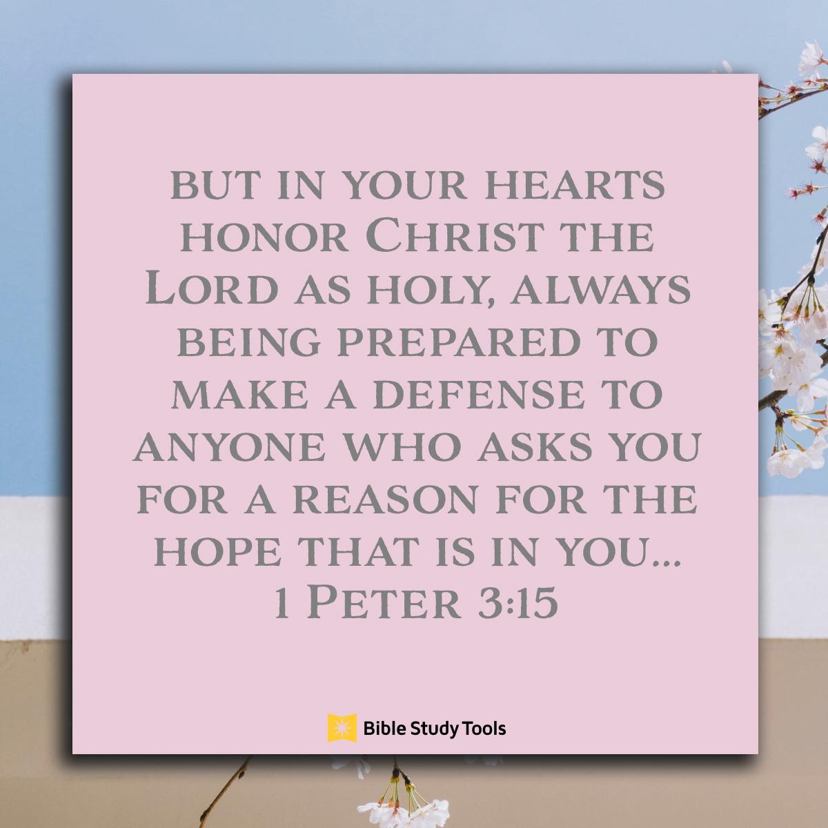 1 Peter 3:15, inspirational image