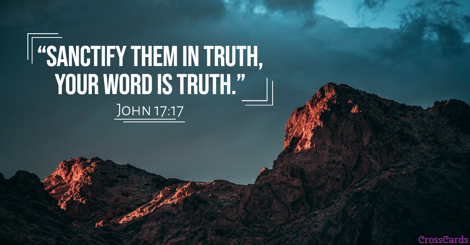 John 17:17 ecard, online card