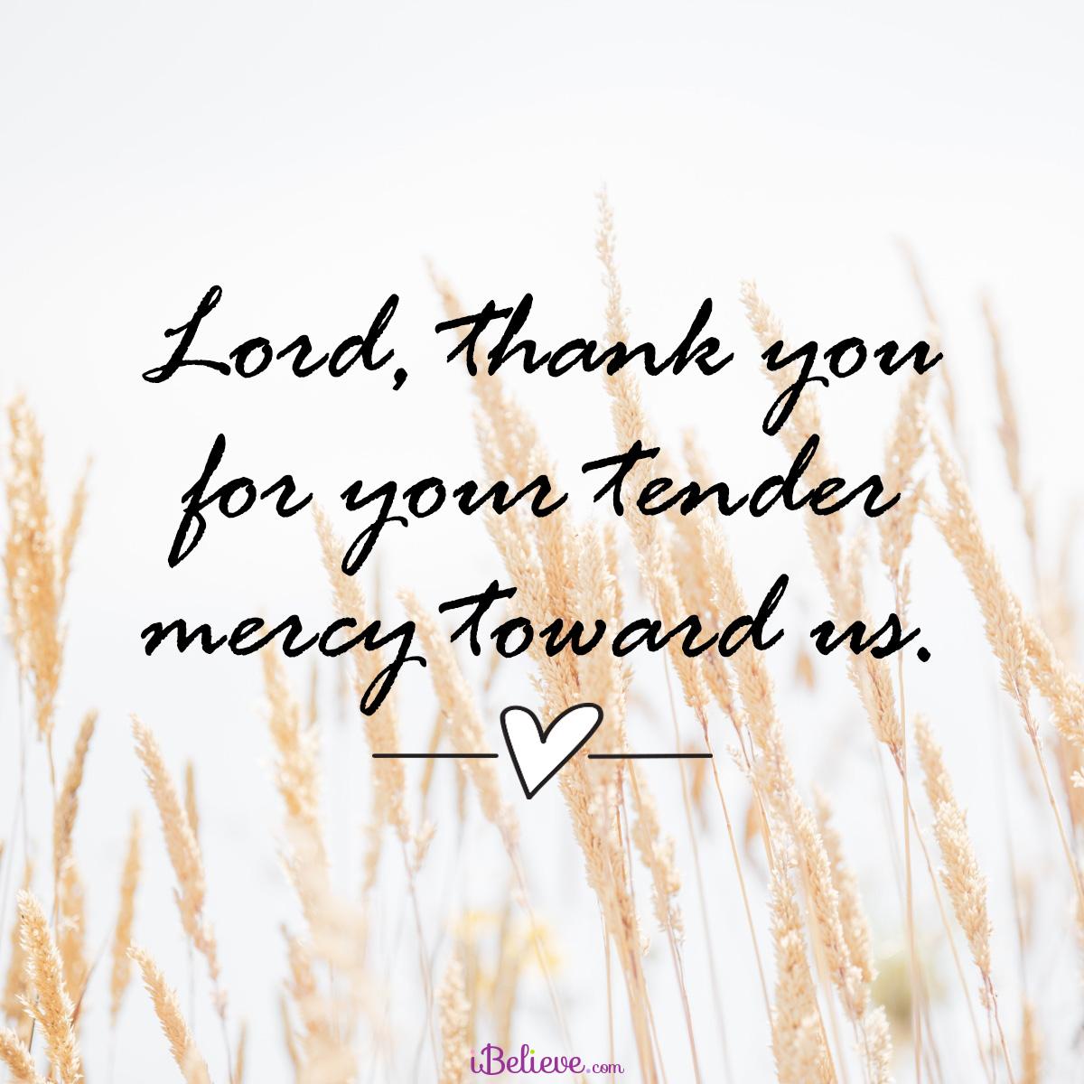 Tender mercy, inspirational image