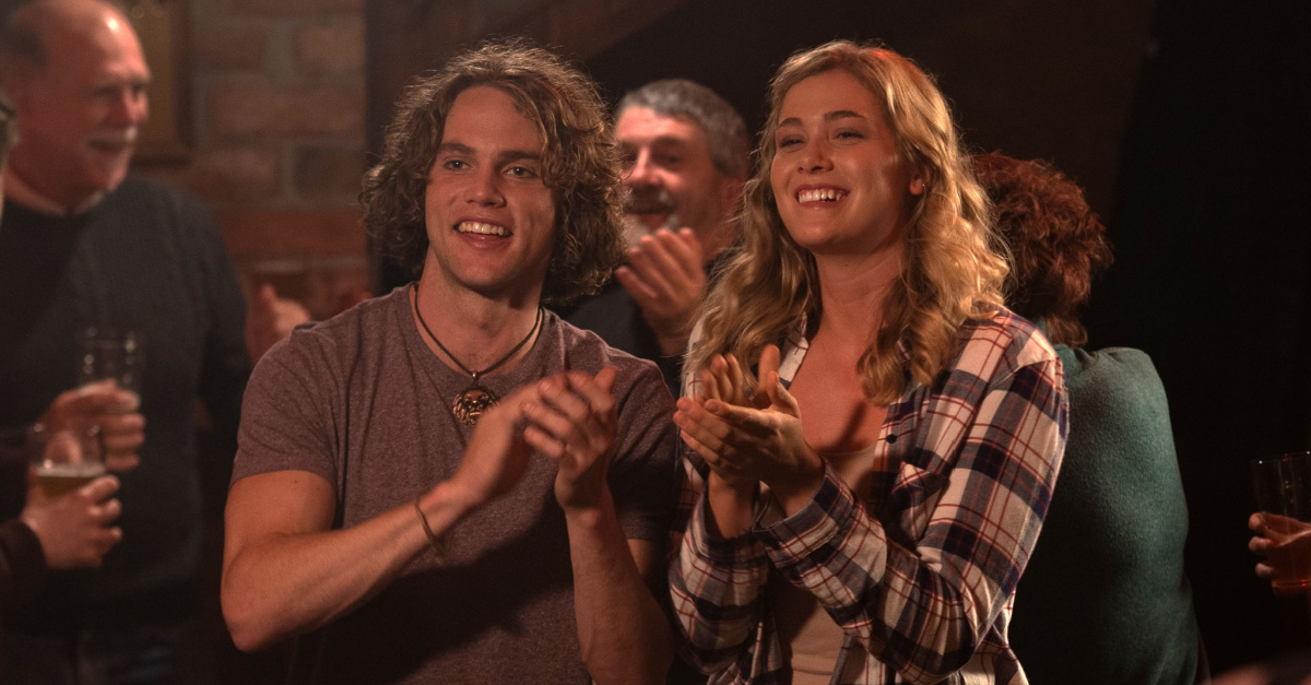 Rose Reid and Jedidiah Goodacre in Finding You, It teaches us that fame doesnt bring joy