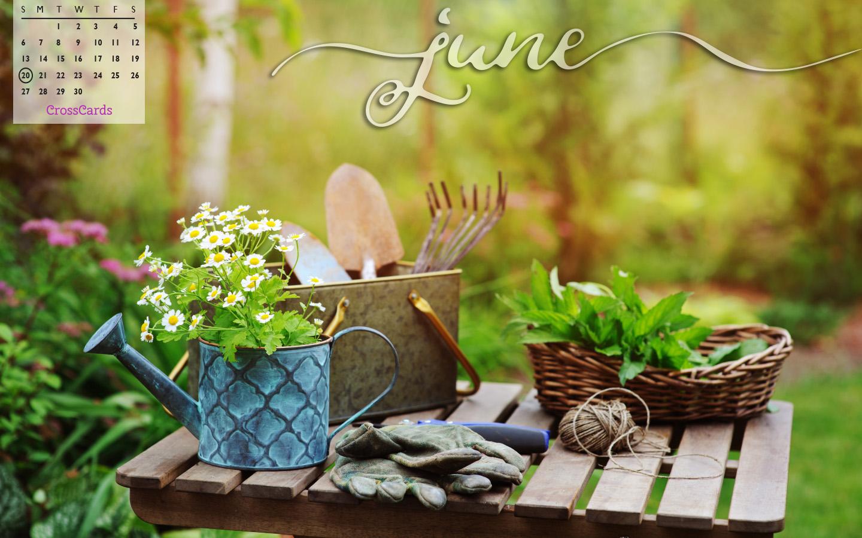 June 2021 - Gardening mobile phone wallpaper