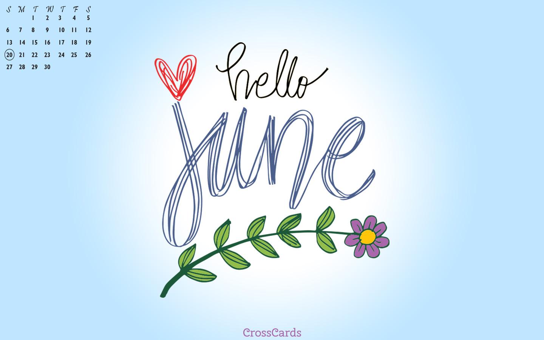 June 2021 - Hello June mobile phone wallpaper
