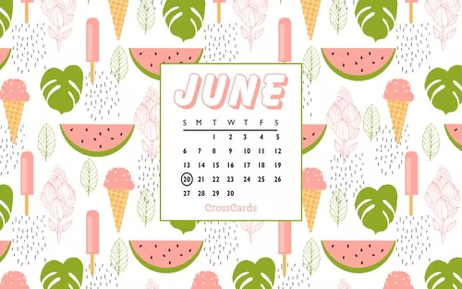 June 2021 - Watermelons mobile phone wallpaper