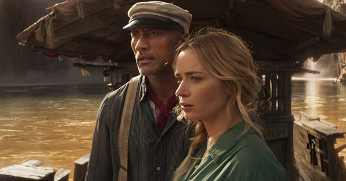 Emily Blunt and The Rock in Jungle Cruise