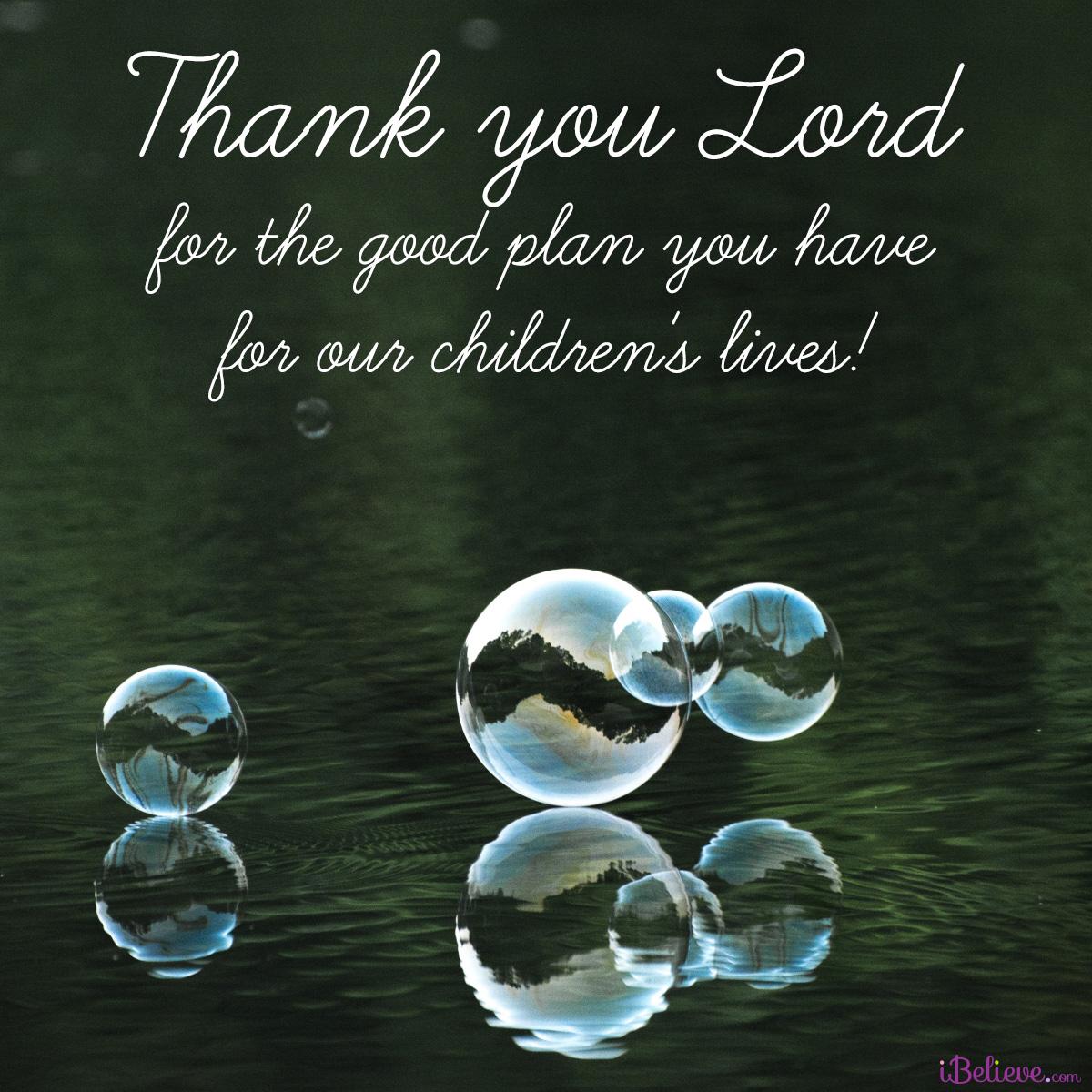 a prayer for our childrens lives, inspirational image