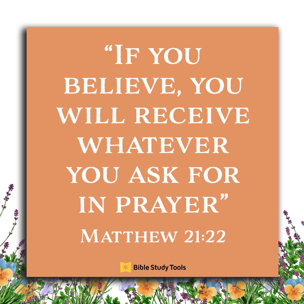 Matthew 21:22, inspirational image
