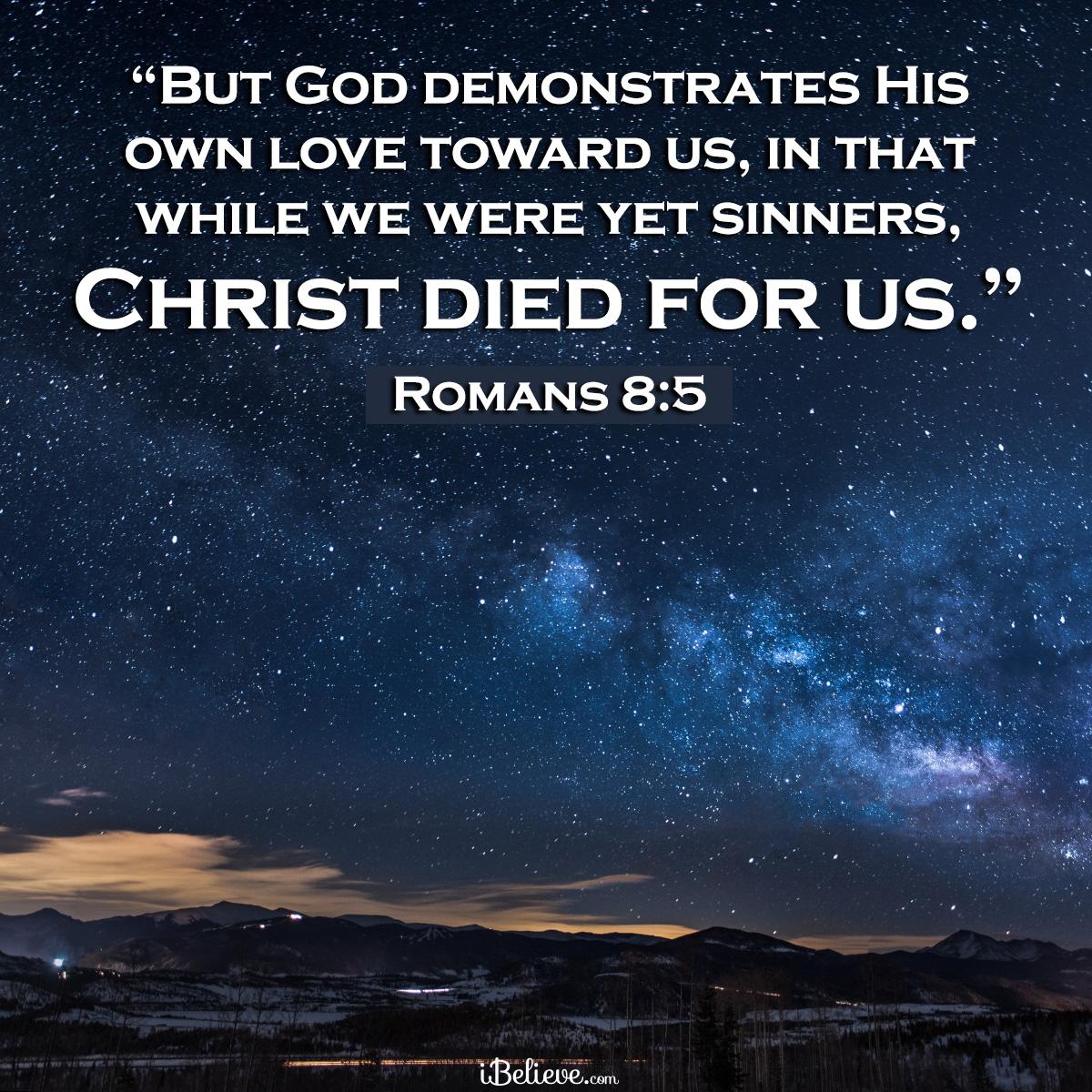 Romans 8:5, inspirational image