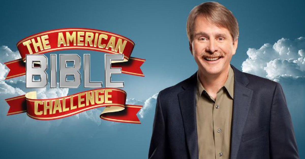 Jeff Foxworthy on the American Bible Challenge poster, American Bible Challenge