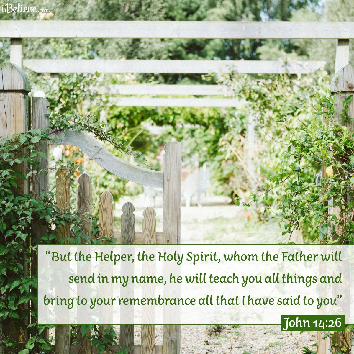 John 14:26, inspirational image
