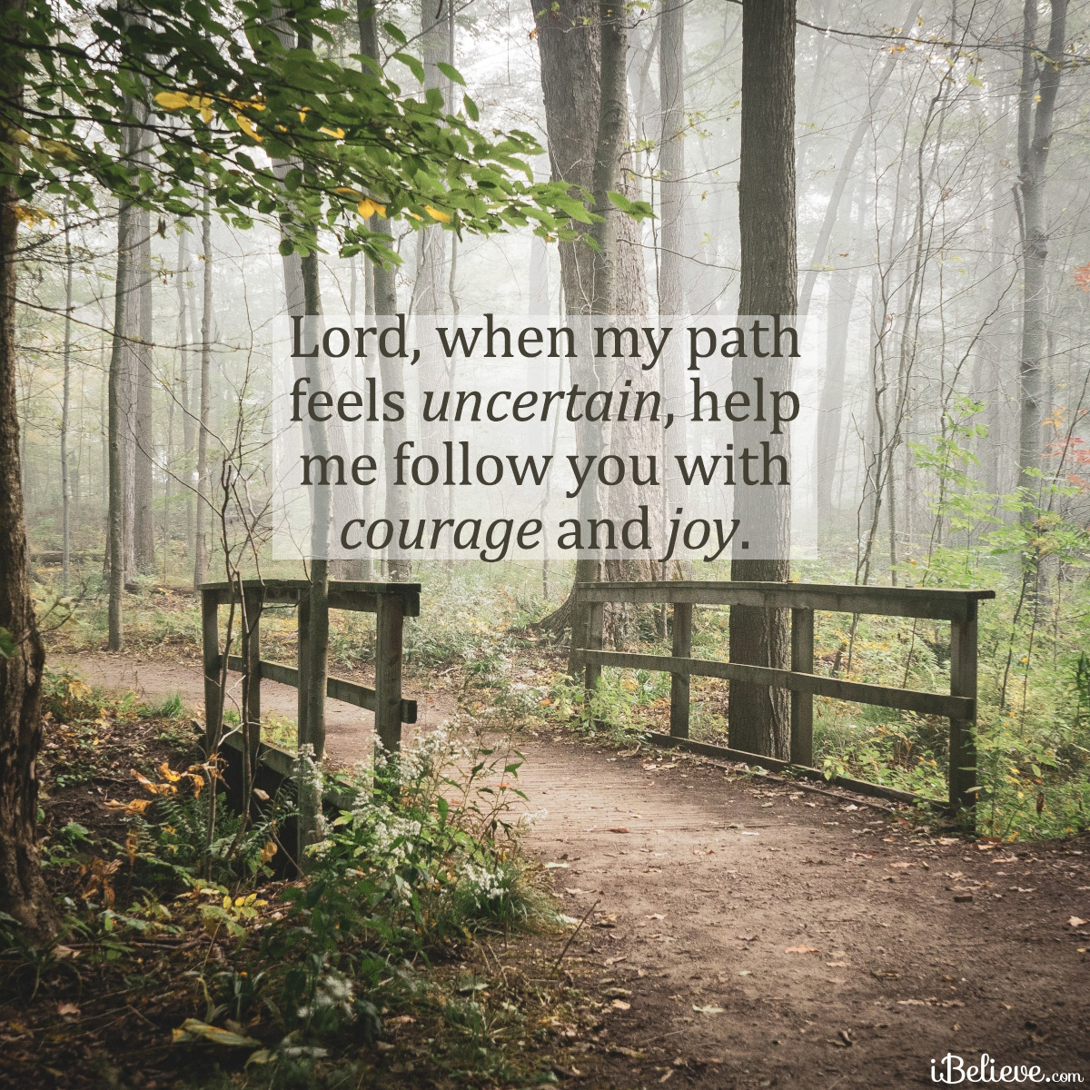 courage and joy, inspirational image